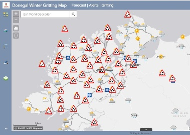 Donegal Drivers Urged to Use Gritting Routes Map