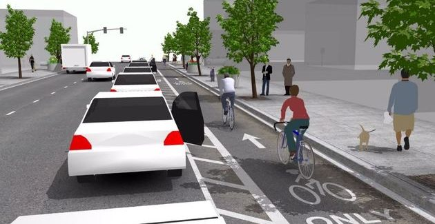 Parked cars to protect cyclists in Dublin under new plan