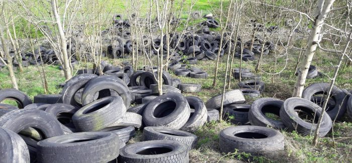 €1m fund to remove over 750,000 dumped vehicle tyres