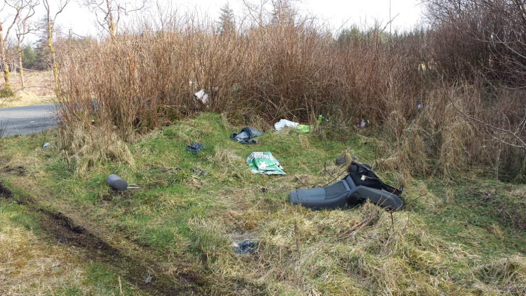 Bags of rubbish and even a car seat have been dumped at Corravaddy (2)