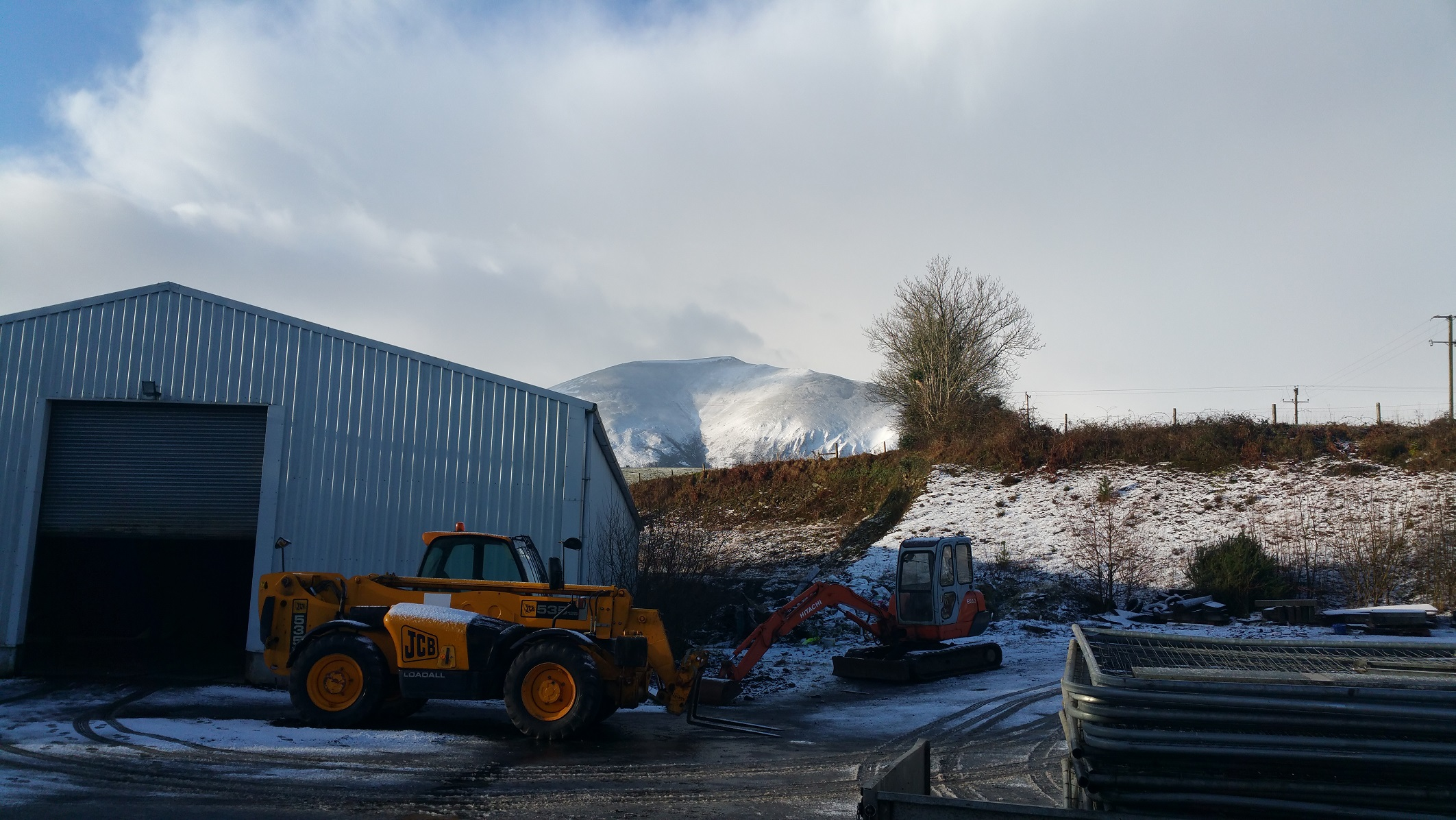 Nephin behind the distillery building
